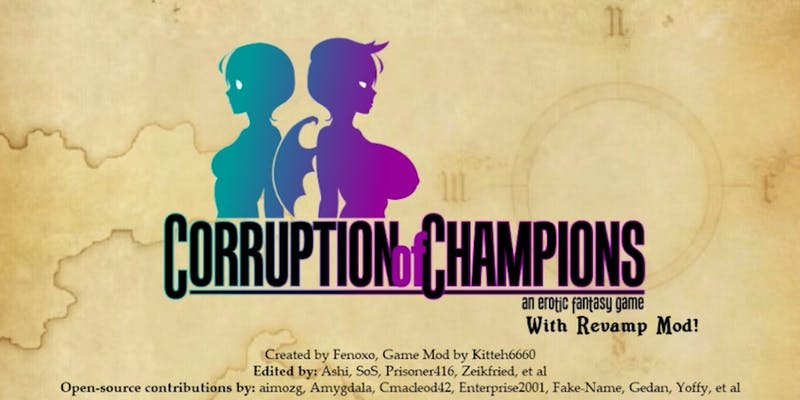 Corruption of Champions opening screen