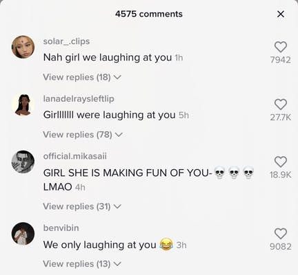comments making fun of bria under her duet of bhad bhabie making fun of her