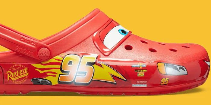 A Lightning McQueen Croc.