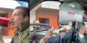 Man smashes COVID-denier's window