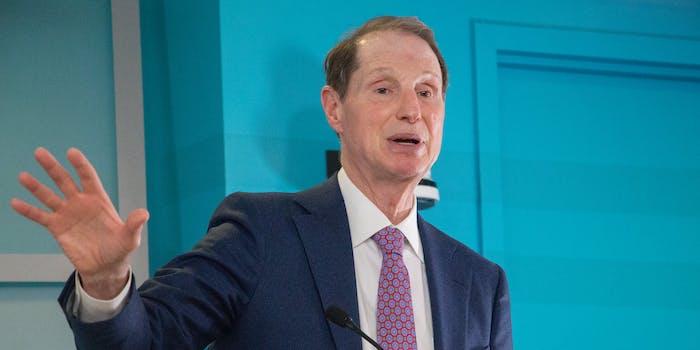 Sen. Ron Wyden speaking at an event in 2018.