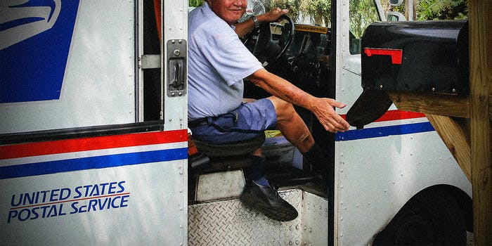 A man delivering mail.