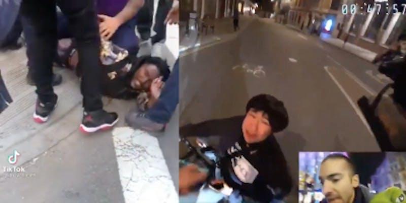bystanders intervene to help asian people