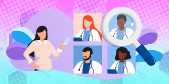 woman questioning doctors