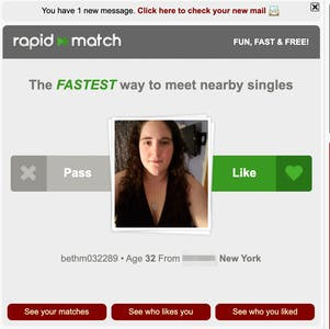 Match BDSM's rapid match BDSM dating feature