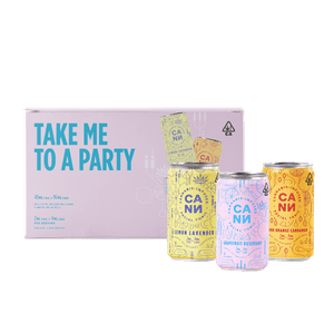 Cann Social Tonics 420 celebration party pack features 30 cans in three flavors.