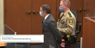 derek chauvin handcuffed after sentencing