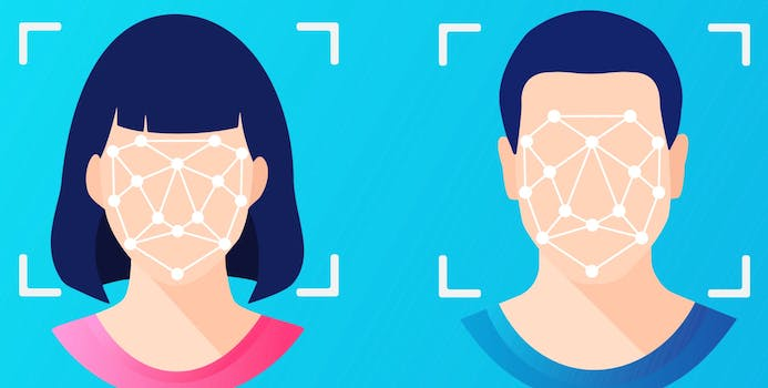 people with faces being scanned by technology