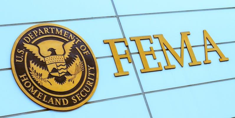 fema camps conspiracy, logo of fema