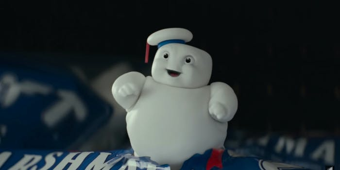 miniature stay puft marshmallow man