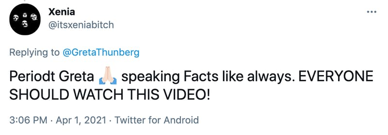 Periodt Greta 🙏🏻 speaking Facts like always. EVERYONE SHOULD WATCH THIS VIDEO!