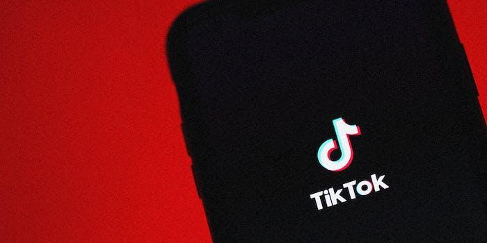 A phone with the TikTok logo.