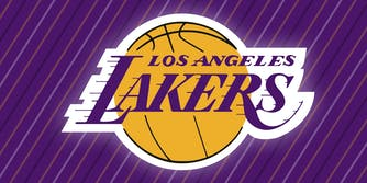 The Los Angeles Lakers logo.