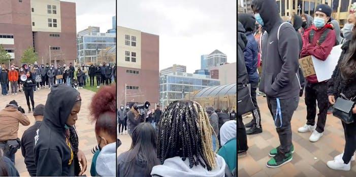 minnesota teen student walkout police brutality derek chauvin trial daunte wright