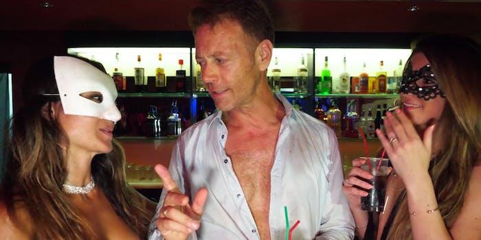 """Rocco Siffredi, Malena Nazionale, and Sara Bell in """"Private Club Orgy"""""""