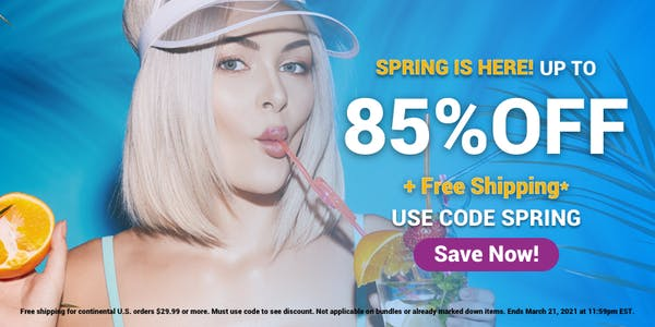 Ella Paradis annual spring sale poster 2021