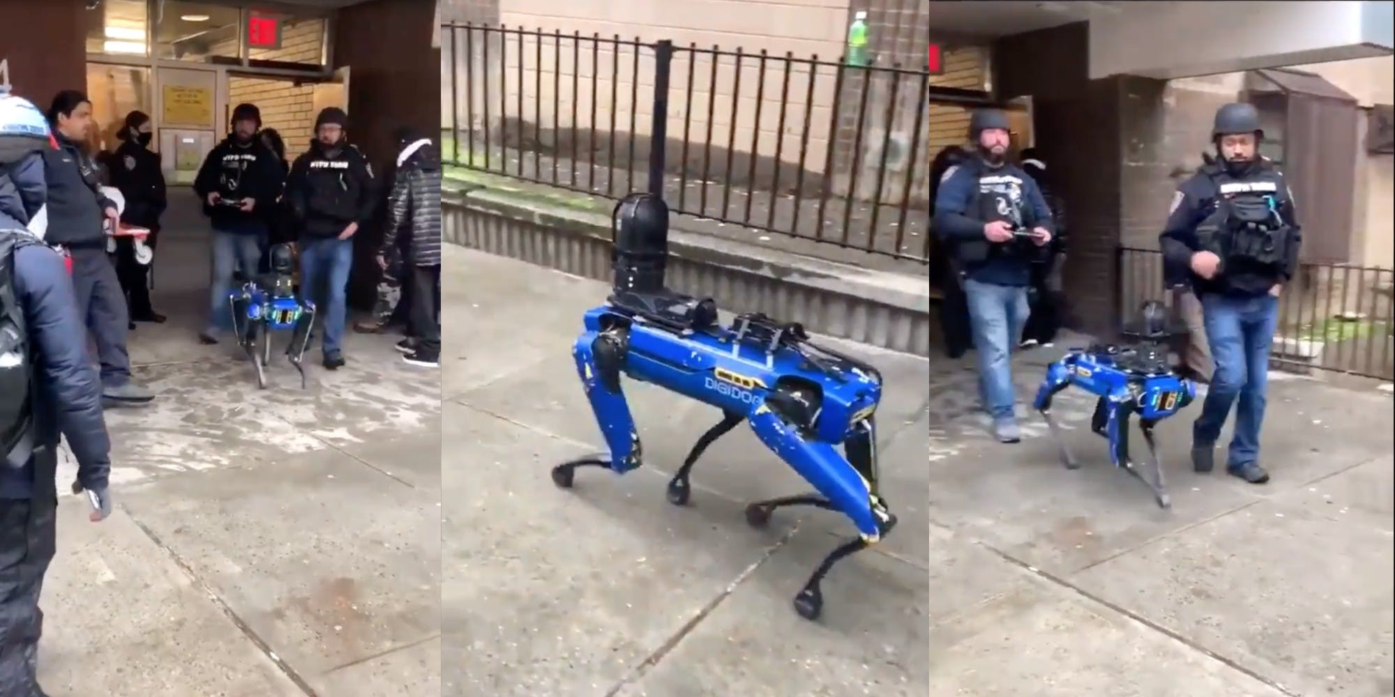A Spot robot being used by the NYPD