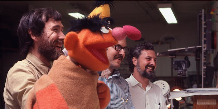 ernie with puppeteers