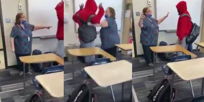 teacher calls student the n-word video