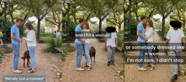 proposal hit and run tiktok viral video savannah georgia
