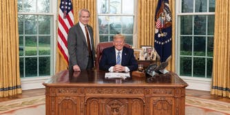 Attorney Lin Wood and ex-President Donald Trump