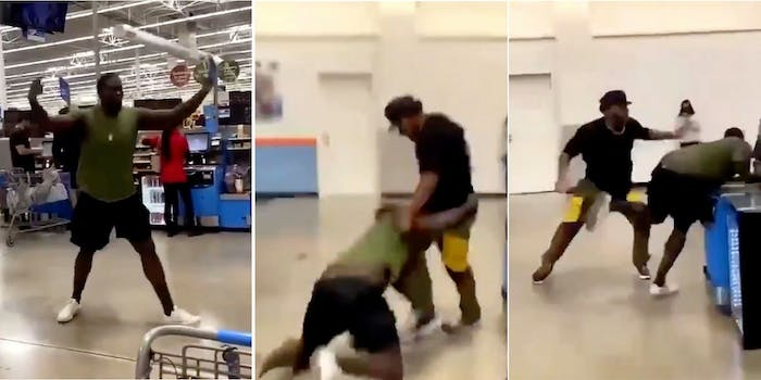 viral video walmart fight man misidentfied as bruce campbell