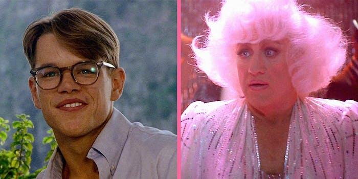 Matt Damon (L) and Gene Hackman (R).