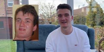 A man next to a popular meme of himself