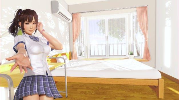 VR Kanojo - Sakura welcoming you into her room
