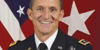 Michael T. Flynn smiling into the camera.