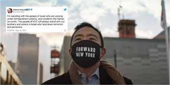 Andrew Yang in hot water for tweet supporting Israel