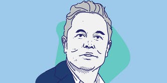An illustration of Elon Musk.