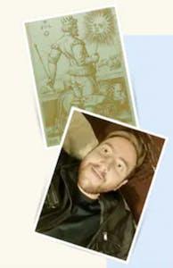 Jake of Oracular Jake and a tarot card