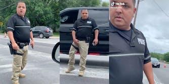 cop seen grabbing crotch