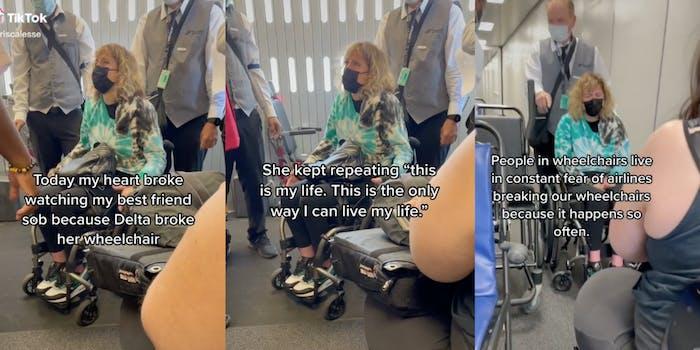 delta breaks woman's chair tiktok video