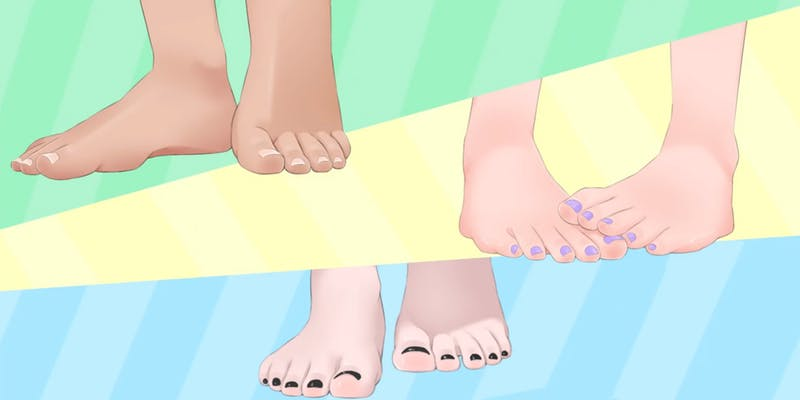 the pairs of feet from My Toes Story