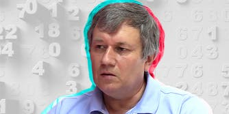 Grigory Gravoboi with TikTok logo colors and numeral background