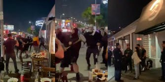 jewish diners attacked video