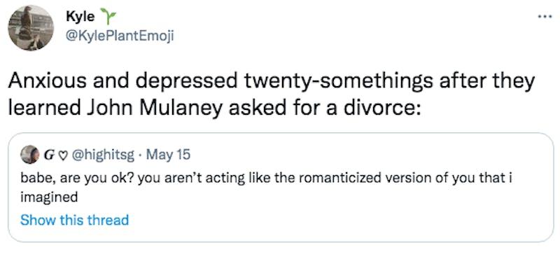 john mulaney divorce tweet