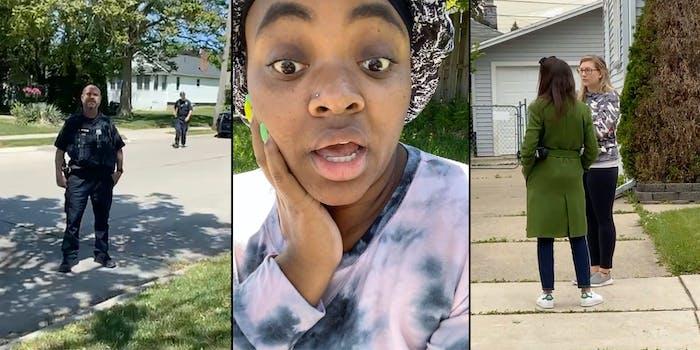 karen calls cops on black woman phone too loud
