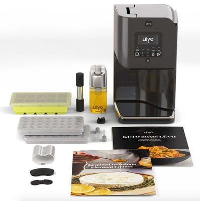levo II weed oil infuser and cannabutter maker bundle featuring a wide array of accessories as well as two cookbooks.
