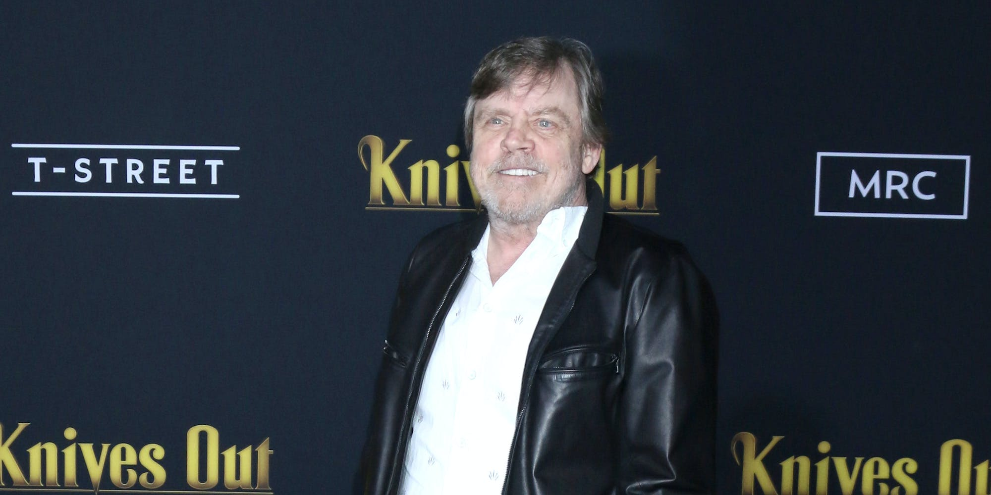 mark hamill at knives out premiere