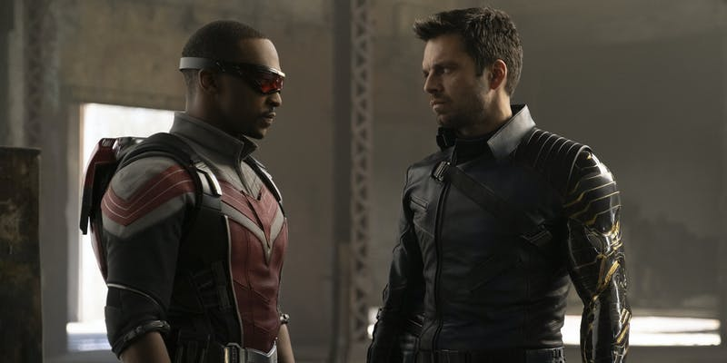 anthony mackie (left) and sebastian stan in falcon and the winter soldier