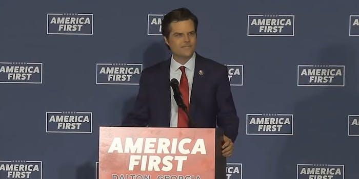 """Matt Gaetz at """"America First"""" event"""
