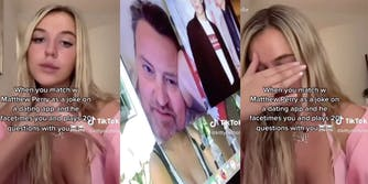 Matthew Perry FaceTimes a young girl he matched with on Raya.