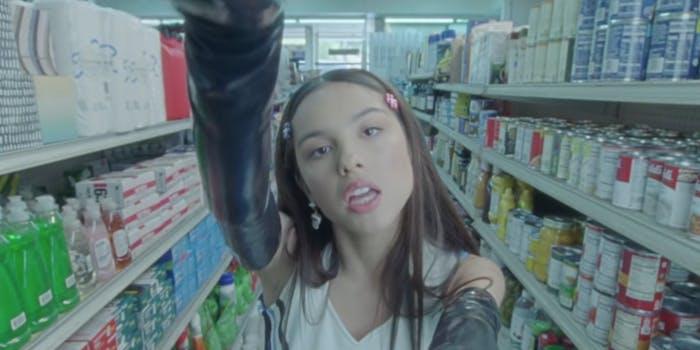 olivia rodrigo in the video for 'sour'