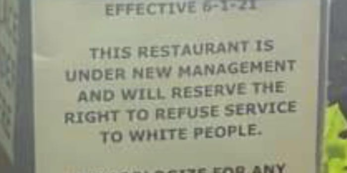 popeyes white people sign