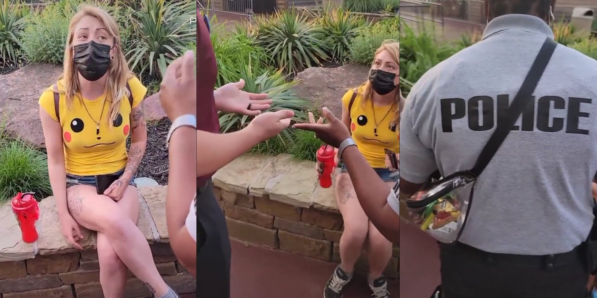 Tiktok Shows Cop At Six Flags Allegedly Confront Woman Over Her Shorts