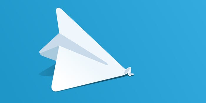 telegram logo of paper airplane but crashed with the nose bent