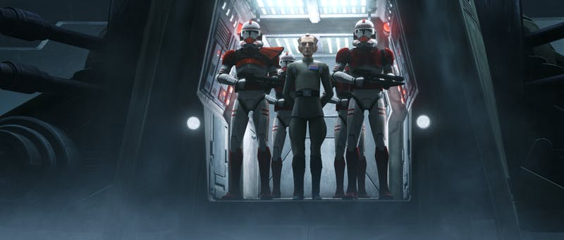grand moff tarkin flagged by clone troopers in the bad batch